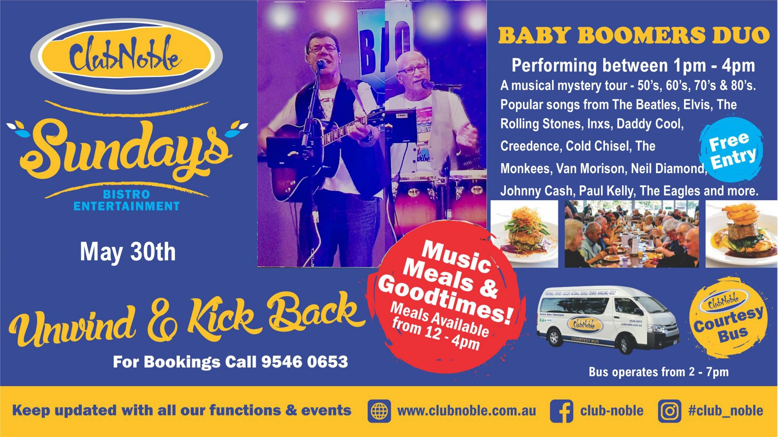 Baby Boomers – Sundays Live Entertainment